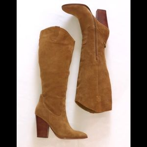 Immaculate Soft Genuine Suede Camel Knee High Boot